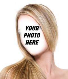 Photomontage to get straight streaked blond hair without going to the salon and free