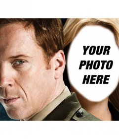 Photomontage of Claire from Homeland series where you can appear