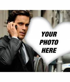 Photomontage with Matt Bomer, the actor who would be Christian Grey from Fifty Shades of Grey with a heart to put your photo