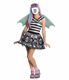 Photomontage where you can put your face in Rochelle, wrist Monster High