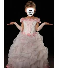 Become a little princess with this photomontage