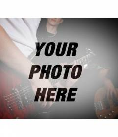 Photo Filter with a band with guitars to create a collage with your photos online