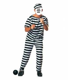 Costume of a prisoner with chains to edit your photo online