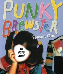 Photomontage of Punky Brewster, the famous childrens series from 80s