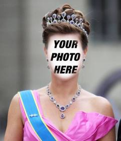 Photomontage of a princess with crown and dressed in gala to put your face