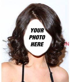 Get the look of Selena Gomez with this photomontage to edit for free