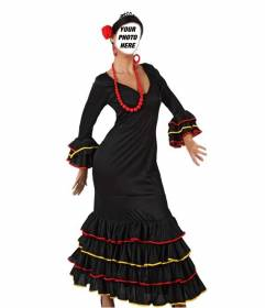 Photomontage where you can put your face on a picture of a Sevillian dancer