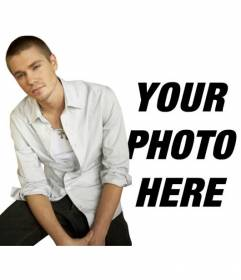 Photomontage with Chad Michael Murray, Lucas in the series One Tree Hill where you will appear with him in the picture and you can add text too