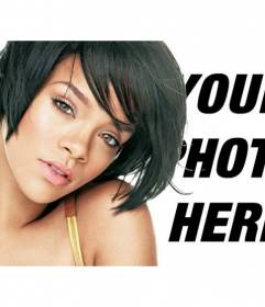 Photomontage with images of Rihanna
