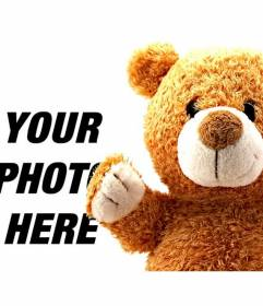 Photomontage for children with a teddy bear to add to your photos