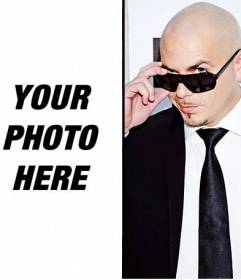 Photomontage with the singer Pitbull to do online