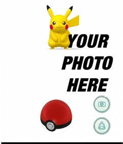Photo effect with Pikachu of Pokemon Go application to put your photo