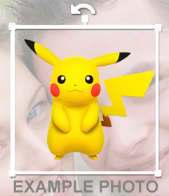 Pikachu on your photos with this photo effect editable and free