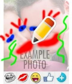 Paint and draw on photo online