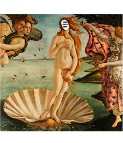 "Photomontage to put your face in Botticelli""s Venus"