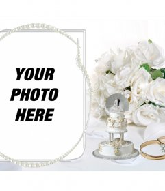 Template photos as original wedding gift