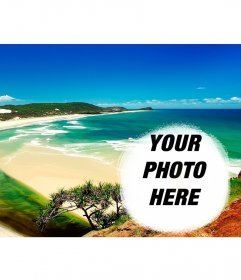 Collage to put your photo next to a beach