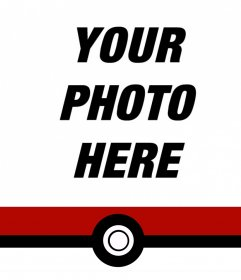 Decorative ribbon of Pokemon to add on the bottom of your photos