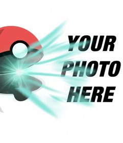Catch your friends with this photo effect of a Pokeball opening