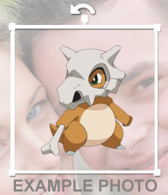 Put on your photos the Pokemon Cubone as a customizable sticker