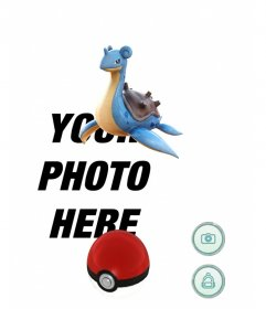 Effect of Pokemon Go with Lapras where you can edit with your photo