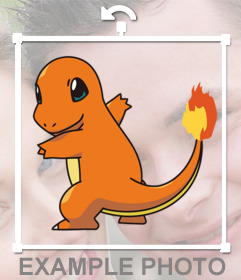 Put Charmander with you with this online photo effect
