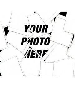 With this photo effect, your image will appear as a collage type composition with multiple photographs made Polaroid