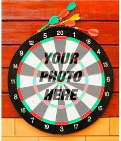 Photomontage with a target