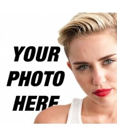 Put your photo along with miley Cyrus with this montage you can do online