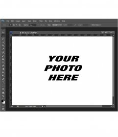 Photomontage with a Photoshop screenshot