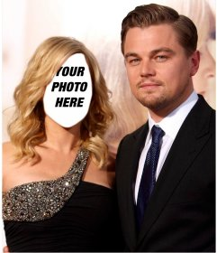 Photomontage to pose with Leonardo DiCaprio with your face