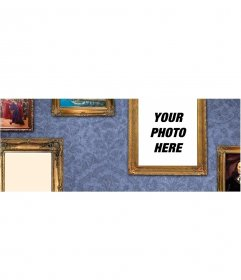 Cover photo to personalize with golden photo frames
