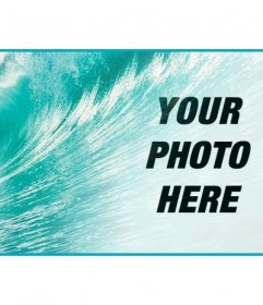 Decorate your facebook profile with a personalized cover with your photo and the blue sea with a big wave