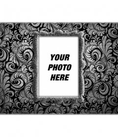Customizable Facebook cover to decorate your personal profile with an elegant photomontage in which you can put your photo on a gray frame on a wall with black wallpaper