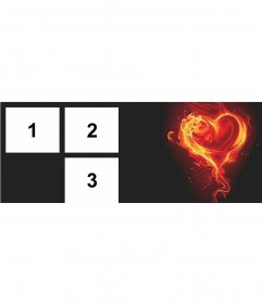 Cover photo for 3 photos with a flaming heart