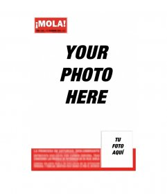 Become famous and salt on the cover of MOLA! Insert a headline and photo that you prefer, you can email it for free