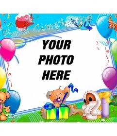 Childrens birthday card personalization