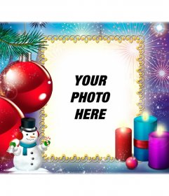 Christmas postcard for you to put a picture of yourself