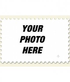 Make a stamp from a photo, photomontage online