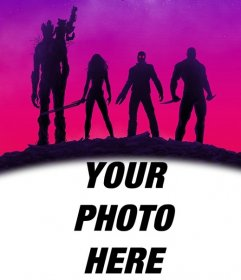 Poster of the Guardians of the Galaxy to personalize with your photo