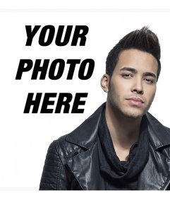 Photo effect with the singer Prince Royce to add your photo