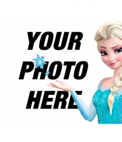 Online collage to put your photo with Princess Elsa of Frozen