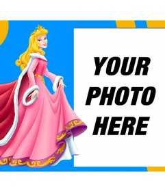 Composition with Disneys Sleeping Beauty dressed in pink next to your photo
