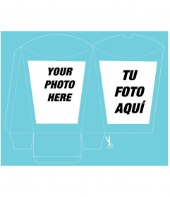 Design your own boxes cutouts putting two images and personalized text, print, cut and assemble them yourself