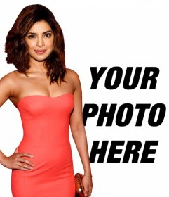 Take a picture with Priyanka Chopra