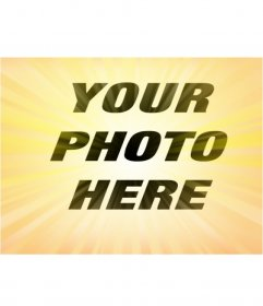 Radial yellow photo effect to give effect to your photos