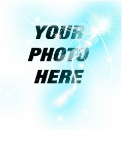 Photo montage to put a ray effect in your photos