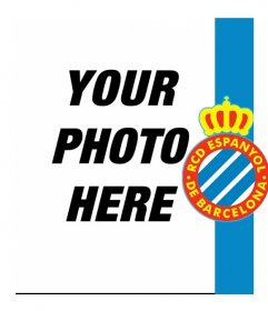 Put the shield and the colors of the Spanish with your photo!