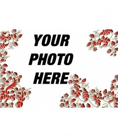 Frame for photos of red leaves