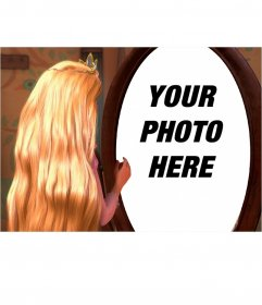 Photomontage to put your photo in the reflection of Rapunzel